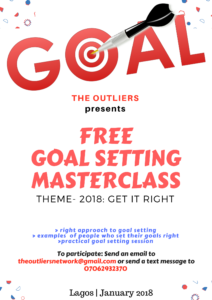 Goal Setting Master class